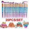 20PCS Unicorn Glitter Makeup Brushes Set Foundation Powder Blush Eyeshadow Brush