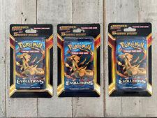 NEW & SEALED Pokémon XY Evolutions CHARIZARD Blister Packs Plus 5 Cards -3 Packs