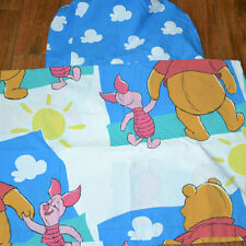 Winnie The Pooh Piglet Twin Sheet Set Disney 3 Piece Clouds Flat Fitted Pillow
