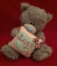 "ME TO YOU BEAR TATTY TEDDY 10"" LOVE YOU CUSHION PILLOW & BOW BEAR GIFT"