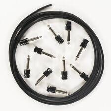 10-Pack SquarePlug Sps4Bk Soldered 1/4'' Plug, Black w/ 10ft Mogami W2314 Cable