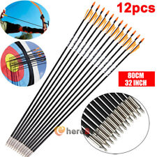 12x Archery 32'' Carbon Arrows Target Practice Hunting For Compound&Recurve Bows