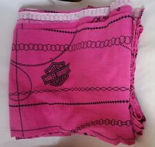 harley girl pink queen size bedsheet torn, see pictures great material