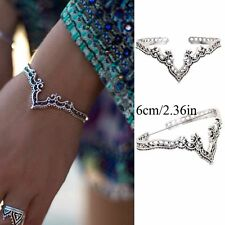 Bohemina Vintage Cuff Bangle Open Bracelet Jewelry Hollow Flower