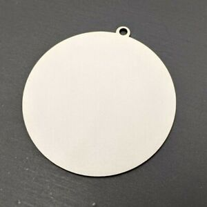 Blank White-Faced MDF  Laser Cut Christmas Tree Bauble