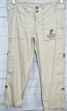 Disney Parks House of Mickey Convertible Linen Casual Pants Women's Size 4