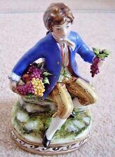 Capodimonte Italy porcelain gent figure-ornament ,Signed