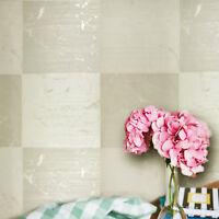 Wallpaper Rolls Gold Cream Beige Metallic Modern Embossed Textured Large Tiles