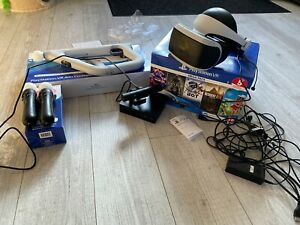 Boxed Sony Playstation VR Headset with Move & Aim Controllers. Ps4