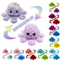 Double-Sided Flip Reversible Octopus Plush Toy Marine Life Stuffed Animals Doll