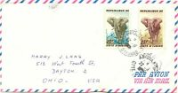 ELFENBEINKÜSTE 1962 Elefanten 25 F und 30 F auf Pra.-Luftpostbrief nach USA