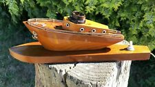 Antique Vintage Beautiful Wooden Boat Table Lamp Light *