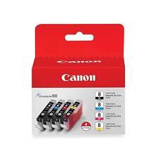 4 Genuine Canon CLI8 Inks Cli-8BK, Cli-8C Cli-8M, Cli-8Y Canon cli 8 Original UK