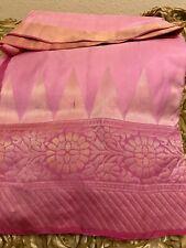 Indian Katan Banarasi Silk saree in wedding Party Wear handloom kanchipuram sari