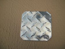 """ALUMINUM MOTORCYCLE KICKSTAND PAD NON SINKING PLATE 1/8"""" THICK SOLID"""