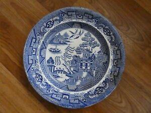 Antique Davenport Willow Pattern Dinner Plate