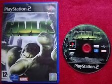 THE HULK DISC AND CASE  ORIGINAL BLACK LABEL SONY PLAYSTATION 2 PS2 PAL