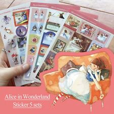 HOT Alice In Wonderland Sticker Scrapbooking Diary Note Deco DIY Card Making Tag