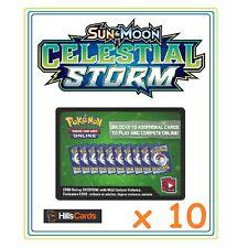 10x Pokemon Sun & Moon Celestial Storm Online Code Cards Booster Codes TCGO SM-7