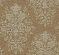 Wallpaper Designer Traditional Large Floral Bouquet Damask Gold on Gold