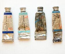 Antique WINSOR & NEWTON watercolour paints 4 x metal tubes  - very old