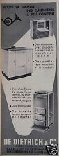 PUBLICITÉ 1953 DE DIETRICH & Cie DES CUISINIÈRES POËLES CHAUDIÈRES - ADVERTISING