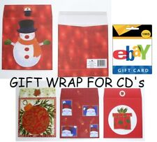 8 Assorted Envelopes for CD's or Gift Cards - Gift Wrap for Compact Discs