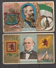 CIGARETTE CARDS Duke 1889 Rulers, Flags & Coats of Arms - (2 crds) 40 & 41