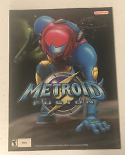 Metroid Fusion Print Ad PROMO Art Poster Nintendo Game Boy Advance GBA Retro