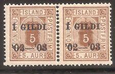 Iceland  Sc# O26   Pair   MNH   Cat Val $22