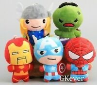 Avengers Plush Soft toy 20cm Thor Hulk Ironman Spiderman Captain America AU