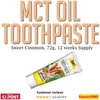 The Dirt MCT Oil Toothpaste Sweet Cinnamon 72g  No Fluoride Bentonite Clay Onnit