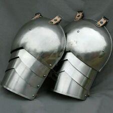 Medieval Larp Gothic steel Pair Of Pauldrons Set Shoulder Armor Pair