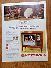 1965 Motorola TV Television Ad  Antiques ?