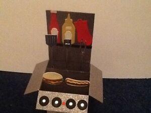 Handmade card BBQ in a box -pop up design