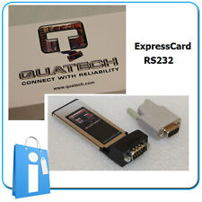 Adaptor card card ExpressCard SERIES RS232 Quatech SSPXP-100 serial com db9