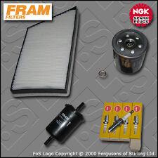SERVICE KIT PEUGEOT 206 2.0 16V GTI FRAM OIL FUEL CABIN FILTER PLUGS (1999-2005)