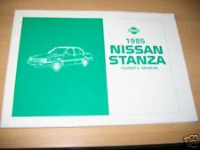 1985 NISSAN STANZA OWNERS MANUAL 85 OWNER'S NEW NOS