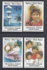1989 CHRISTMAS ISLAND HARI RAYA FINE MINT SET OF 4  MUH/MNH