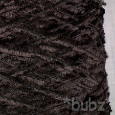 4 PLY FEATHER YARN 500g CONE 10 BALLS DARK CHOCOLATE BROWN - FUR FURRY FUNKY NEW