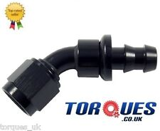 AN -10 (10AN JIC AN10) 45 Degree Push-On Socketless Fuel Hose Fitting In Black