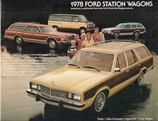 Ford Station Wagons 1978 USA Market Sales Brochure Pinto Fairmont LTD Club