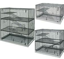 METAL CAGES - 1, 2 or 3 Storey Ferrets Chinchilla Rats Chipmunks Rodent dm Stand