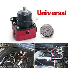 Universal Adjustable Fuel Pressure Regulator+160psi Gauge AN 6 Fitting End Metal