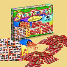 Tombola SUPER SPECIAL 48 Karten / Bingo aus Italien für Weihnachten / Silvester