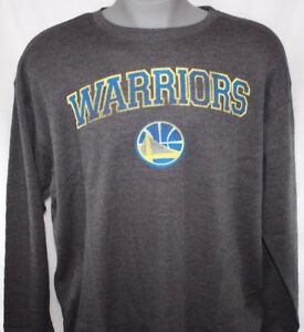 NEW Mens MAJESTIC Golden State Warriors Grey Long Sleeve B&T NBA Thermal Shirt