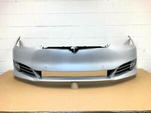 2016 2017 2018 2019 2020 tesla model S front bumper with 6 sensors (silver) #2