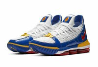 "Nike LeBron XVI ""SuperBron"" White Blue Red CD2451-100 Basketball Shoes Men's NEW"