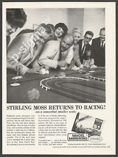 Stirling Moss returns to racing -Aurora Model Motoring - 1963 vintage Print Ad
