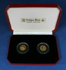 1989 / 1990 Gibraltar Gold Proof Full Sovereign Set in Case with COA    (AH6/3)